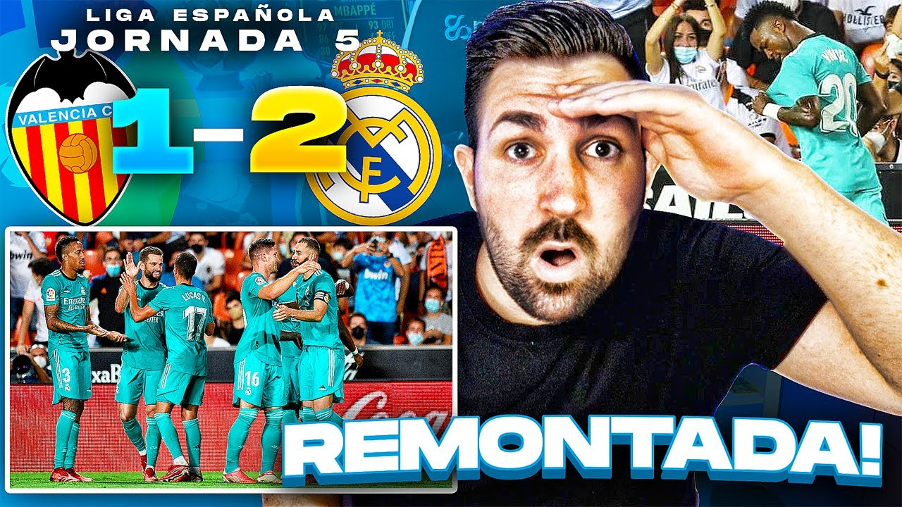 VALENCIA 1 - 2 REAL MADRID | REMONTADA CON VINICIUS DE ESTRELLA