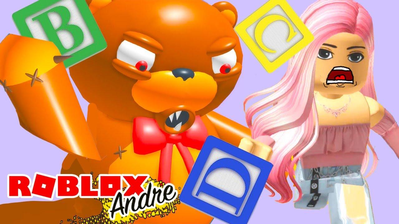 Roblox Andre escapando de la juguetería y del osito malvado | Juegos en español