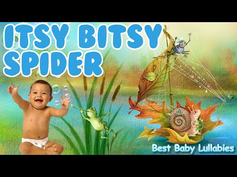 ♥ Nursery Rhymes Songs To Put A Baby To Sleep Lyrics-Baby Lullaby Lullabies  Itsy Bitsy Spider ♥