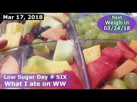 What I ate on WW Freestyle | Lets talk Sugar Challenge | MARCH 17 2018 Daily Vlog