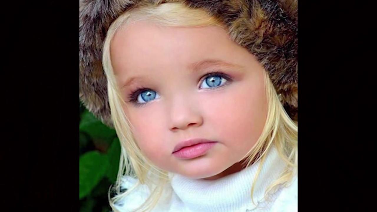10 Most Beautiful Blue Eyes, Children Eyes - YouTube