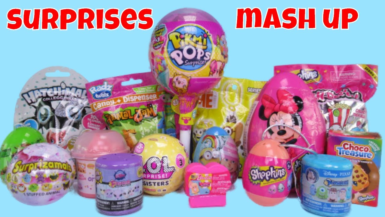 Surprise Eggs Toys Blind Bags Mash Up Pikmi 2 Lol Series 3