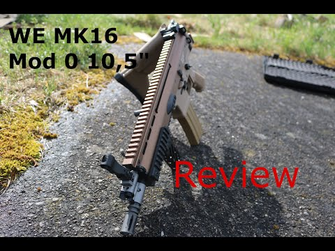 "WE MK16 Mod 0 10,5"" Upgrade Edition S-AEG Mit Begadi CORE EFCS / Mosfet"