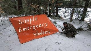 Adirondacks Class Footage: Winter Emergency Shelters
