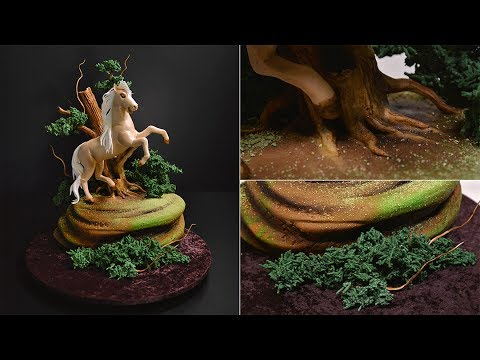 Prancing Horse in the Woods Cake Tutorial - Introduction and Free Sample - Making the Horse's Mane a