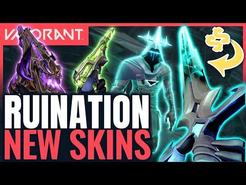 VALORANT   New RUINATION Skins - New Guns, Finisher & Melee Gameplay (ft Sean & Preeti)