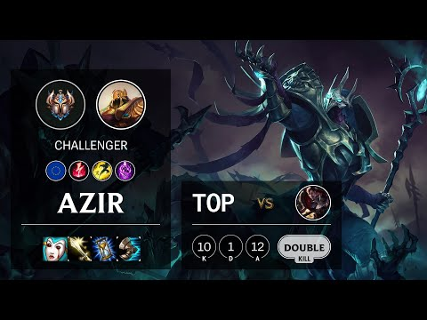 Azir Top vs Darius - EUNE Challenger Patch 10.16