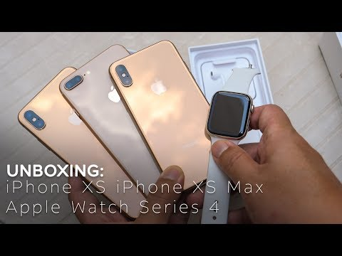 ASMR: iPhone XS, iPhone XS Max & Apple Watch Series 4 Unboxing