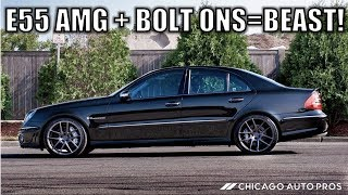 Here's Why The E55 AMG Is Still A Relevant Euro Super Sedan. New E63 AMG Power With Easy Bolt Ons.