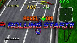 Daytona USA Deluxe (PC) - Online Multiplayer Test footage