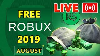 🔴FREE ROBUX LIVE 🔴 100% FREE ROBUX IN AUGUST 2019 LIVE 🔴 FREEROBUX