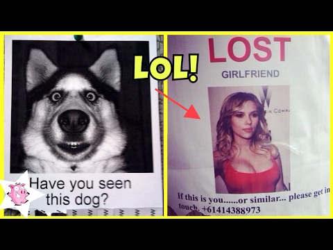 Most Hilarious Missing Posters Ever - Funny Lost & Found Posters
