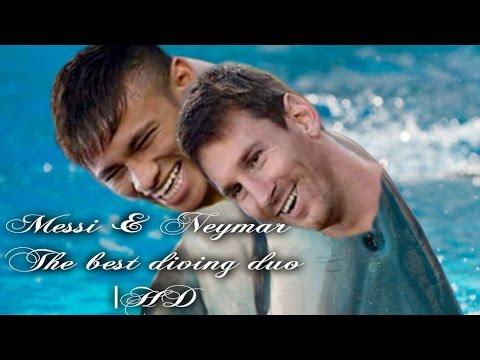 Messi & Neymar ● The Legendary Diving Duo●