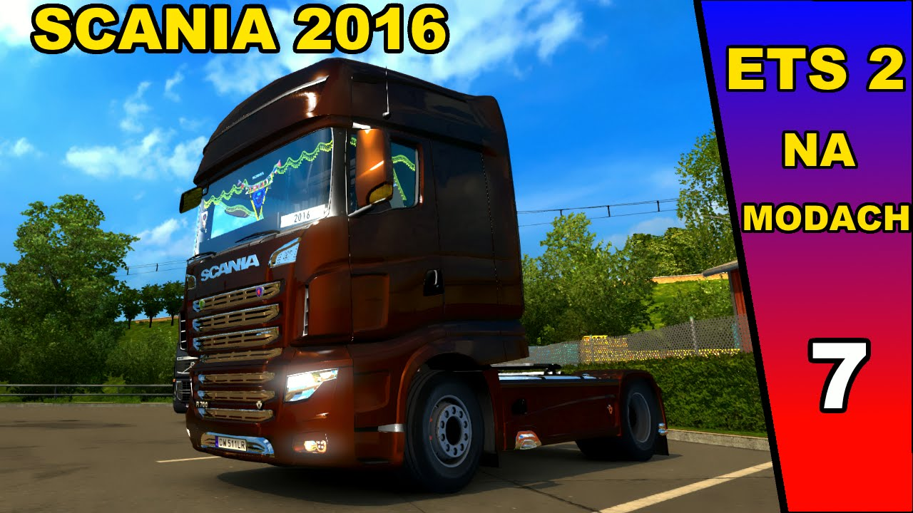 euro truck simulator 2 na modach pl scania 2016. Black Bedroom Furniture Sets. Home Design Ideas