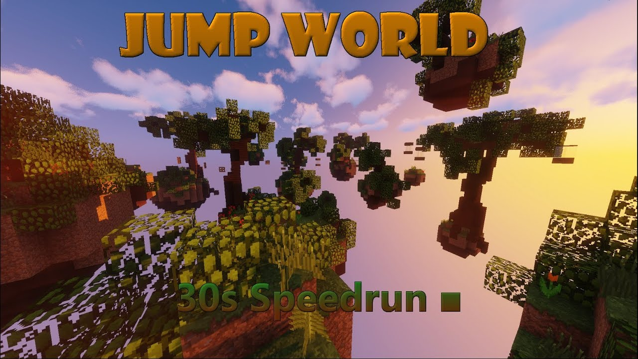 30s Speedrun ■ |Minecraft Jump World|