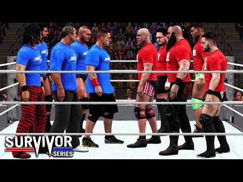 WWE 2K18 Survivor Series 2017 - Team RAW vs Team Smackdown 5 on 5 Survivor Series Elimination Match! thumbnail