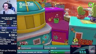 WR! Super Mario Odyssey - Darker Side Speedrun in 3:11:47 World Record!!!