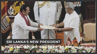 Sri Lankan President Gotabaya Rajapaksa swears in brother as PM