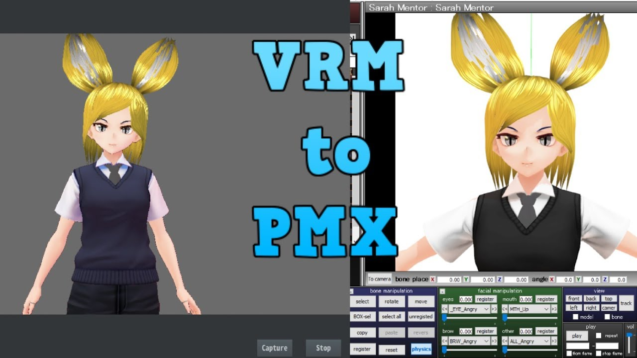 vRoid to MMD tutorial by vTuber RS