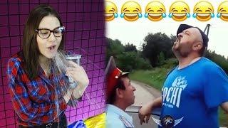 Самое смешное видео в мире. Попробуй не засмеяться с водой во рту челлендж, ч. 47