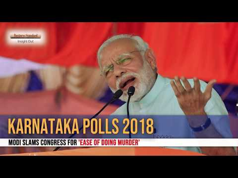Karnataka polls 2018:  Modi slams Congress for 'Ease of Doing Murder'