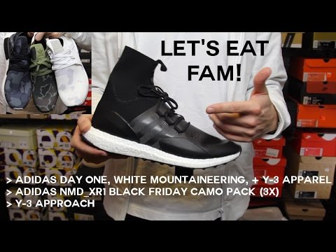 huge selection of 4db0b 1f6a5 EP17 Let's Eat Fam! ULTIMATE Winter Ultra Boost?!? Black Friday Camo Adidas  NMD XR1