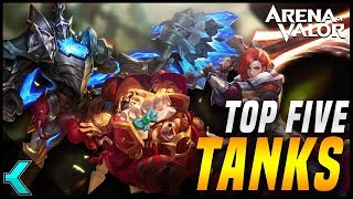 TOP FIVE BEST TANKS | Arena of Valor (NA Only)