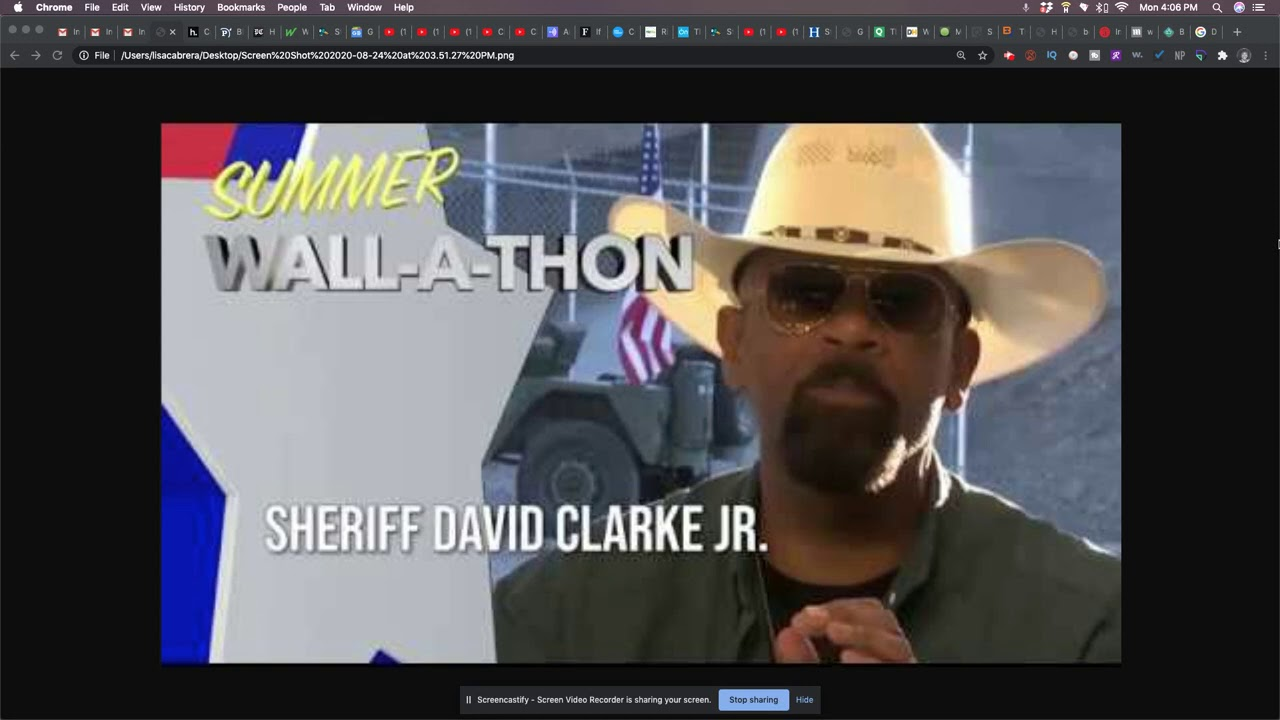 David Clarke, Jr. Was A Key Fundraiser For The Border Wall Group