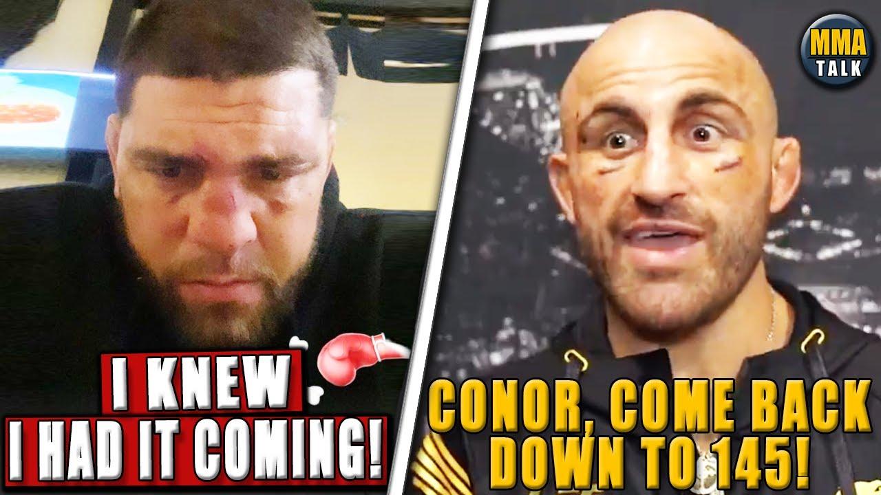 Download Nick Diaz REACTS following TKO loss to Robbie Lawler, Volkanovski RESPONDS to Conor's tweets, Dana