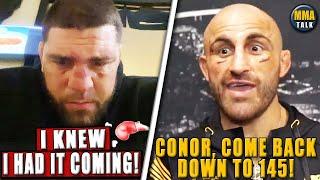 Nick Diaz REACTS following TKO loss to Robbie Lawler, Volkanovski RESPONDS to Conor's tweets, Dana