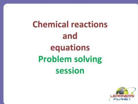 science problem solving questions