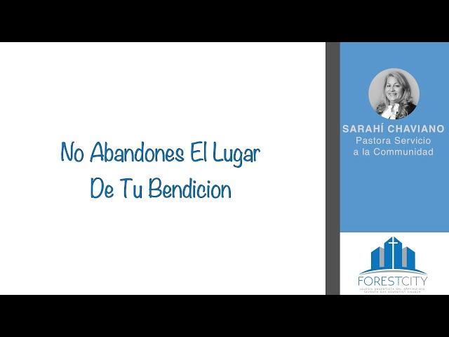 3/9/2019 No Abandones El Lugar De Tu Bendicion