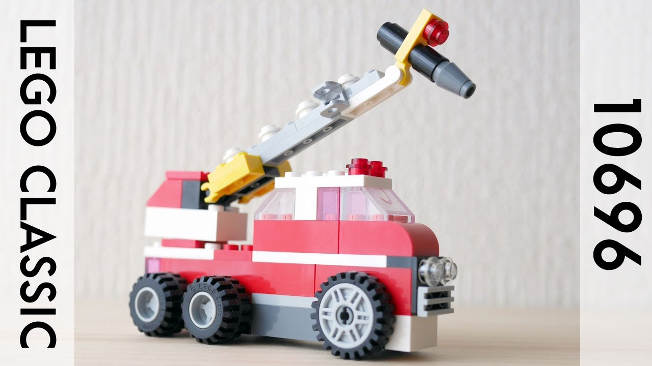 Building A Lego Fire Truck Using Classic 10696 レゴ 消防車の作り方 Lego Fire Toy Fire Trucks Fire Trucks