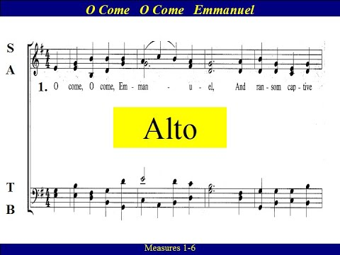 O Come O Come Emmanuel - Alto - YouTube