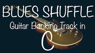 Blues Shuffle Guitar Backing Track in C