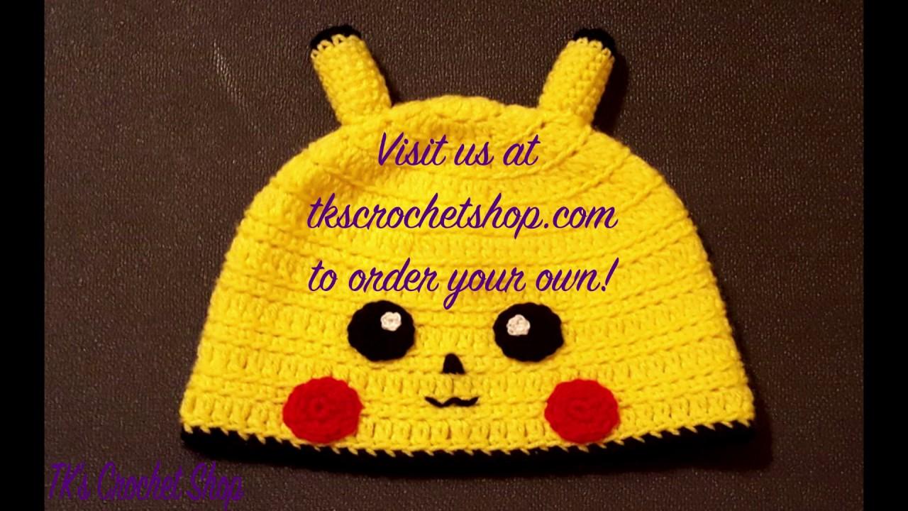TK\'s Crochet Shop - Pikachu Beanie - YouTube