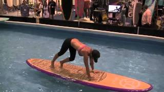 Amazing SUP Yoga demonstration at Surf Expo