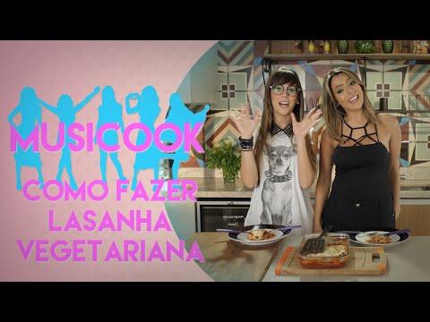 COMO FAZER LASANHA VEGETARIANA COM A DJ ALINE ROCHA | Musicook