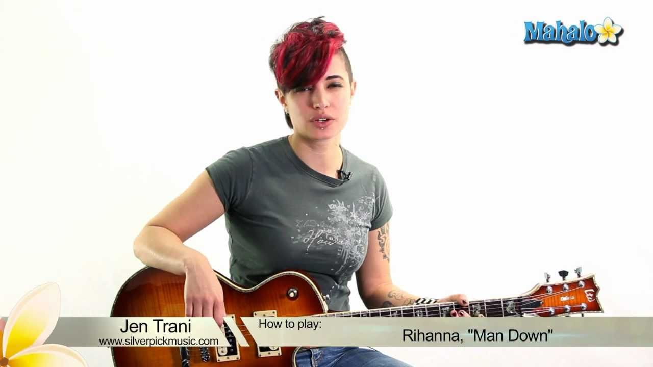 How To Play Man Down By Rihanna On Guitar Youtube