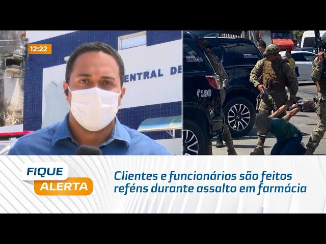 Clientes e funcionários são feitos reféns durante assalto em farmácia de Maceió