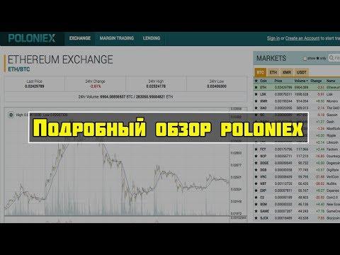 Подробный обзор криптовалютной Бирже Poloniex