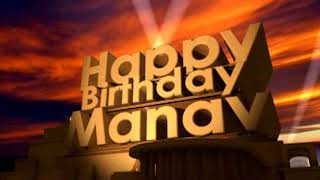 Happy Birthday Manav
