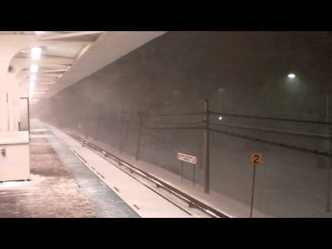 Chicago Blizzard of 2011: Green Line Station