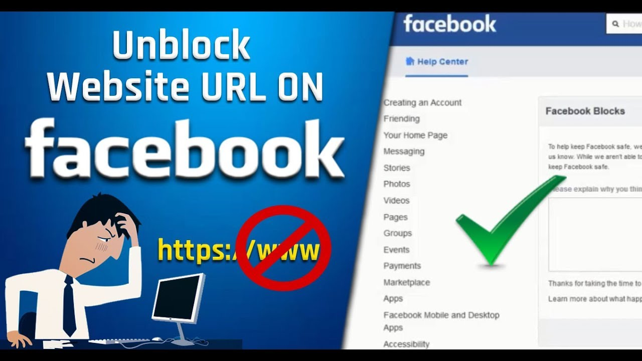 If Your Website URL blocked By Facebook - How To Unblock Website URL