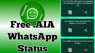 Whatsapp Status appybuilder aia file free, Upload on google play store & earn 100$ per day  New 2018