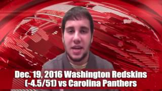 Quick Pick 12/19/16 Washington Redskins (-4.5/51) vs Carolina Panthers Expert Prediction