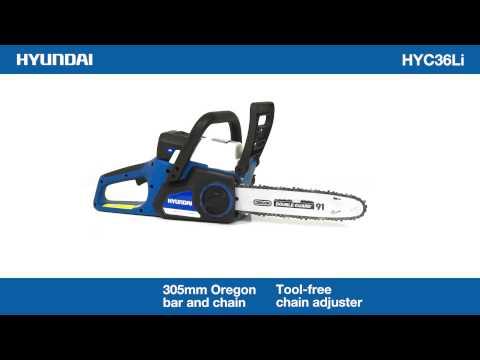 Hyundai HYC36Li 36v Battery Powered Chainsaw 360 Video
