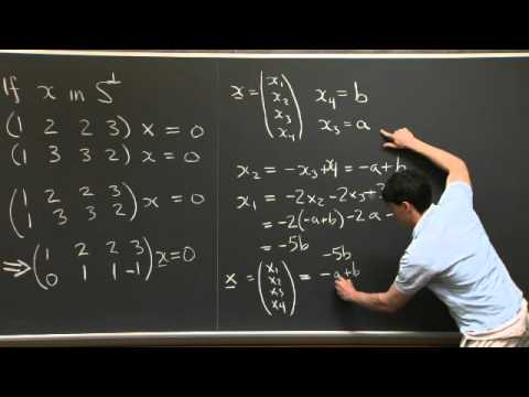 Orthogonal Vectors and Subspaces | MIT 18.06SC Linear Algebra, Fall 2011