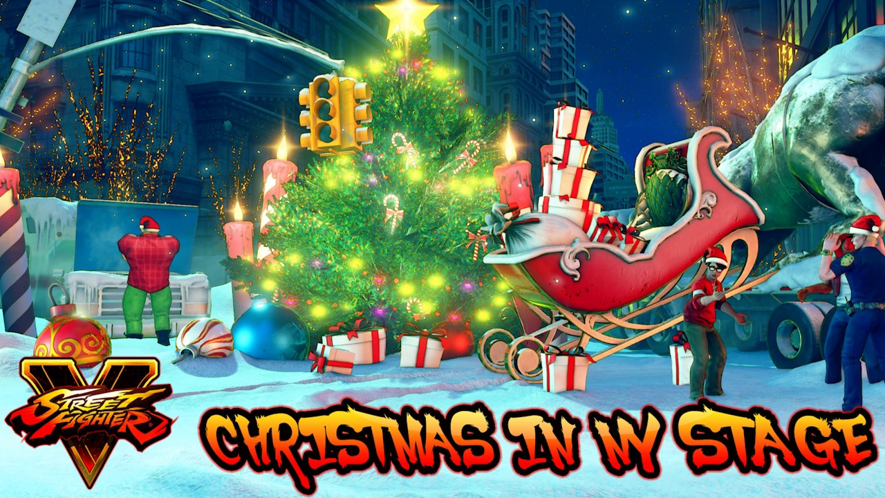 Street Fighter V / 5 CHRISTMAS IN NEWYORK STAGE Theme [All Parts Mix ...