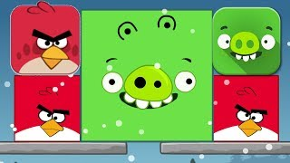 Angry Birds - KICK OUT GREEN PIGS! BIGGEST BIRDS SMALLEST PIGGIES